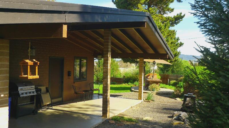 Front door. Picnic and BBQ area. - Wine Country GetAway - Cotati - rentals