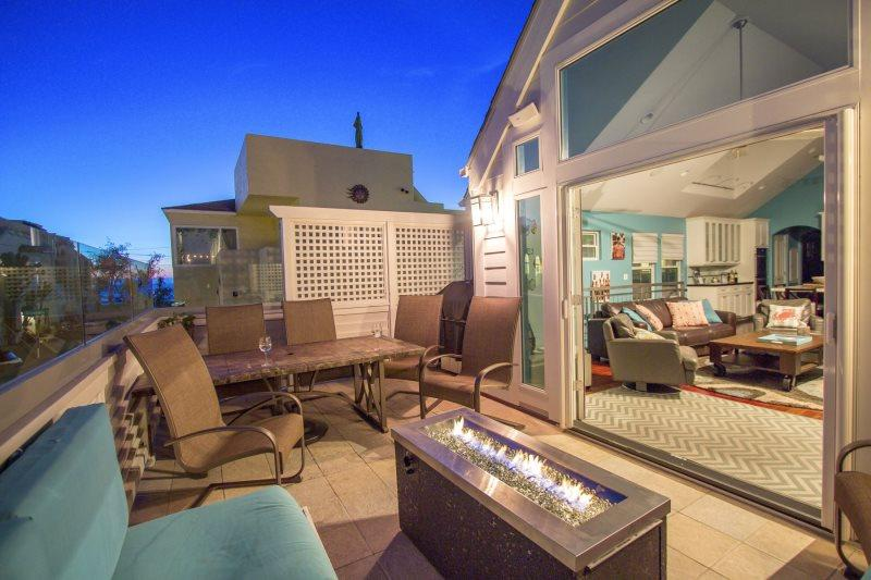 Stunning Beach Home. Glass Balcony with Fire Pit. Steps from the sand. - Image 1 - Pacific Beach - rentals