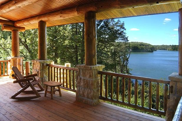 Rear deck with grand lake view  - The Cottage on Lake Galena - Galena - rentals
