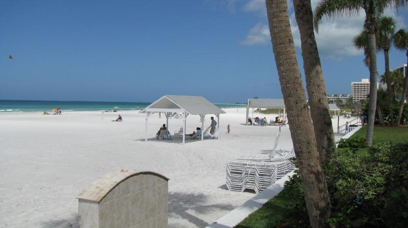 Crescent Beach on Siesta Key from the Casa Blanca complex - Siesta Key Beach Villa - #1 rated Beach in America - Siesta Key - rentals