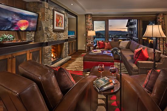 Spacious living room - One Steamboat Place Wolf Mountain Residence - 4BR with Mountain View - Steamboat Springs - rentals