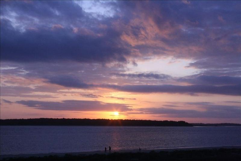 Your sunset at 1314 Pelican Watch Villas! - You're on the Beach! - Top Floor Corner - Seabrook Island - rentals
