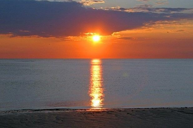 Indian Rocks Beach view of sunset over Gulf of Mexico. - Ocean Front Beachfront Penthouse Luxury Condo - Indian Rocks Beach - rentals