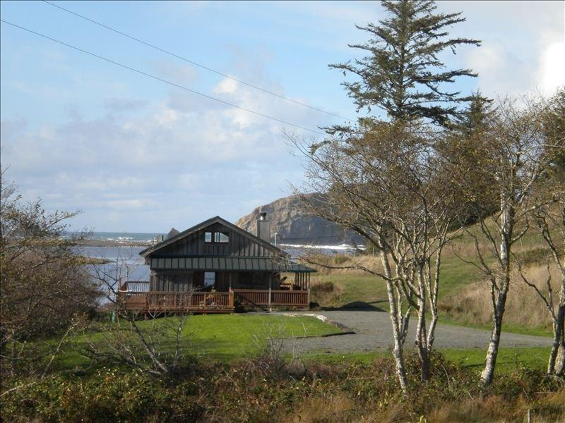 Breathtaking views of the Sixes River and Pacific from the cabin - Enjoy Private, Country Comfort Stay - Sixes - rentals