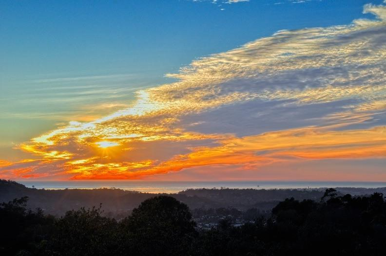 Sunset View from Balcony. - Ocean Vacation Rental: Stunning Estate with Pool - Santa Barbara - rentals