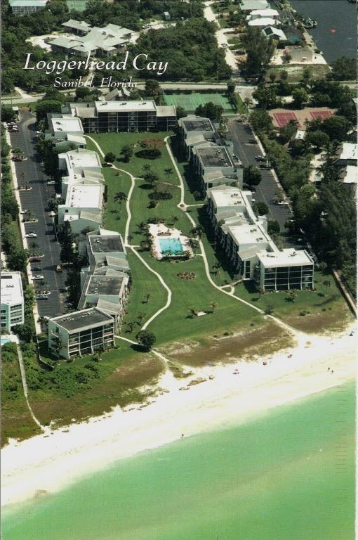 Aerial View Loggerhead Cay Condo on the Gulf - Sanibel Island; World Famous Shelling Beach - Sanibel Island - rentals