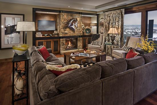 Spacious living room - One Steamboat Place Sleeping Giant Residence - 4BR with Valley View - Steamboat Springs - rentals