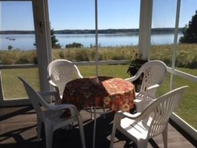 screened porch with sun - Midcoast Waterfront Maine Home - Cushing - rentals