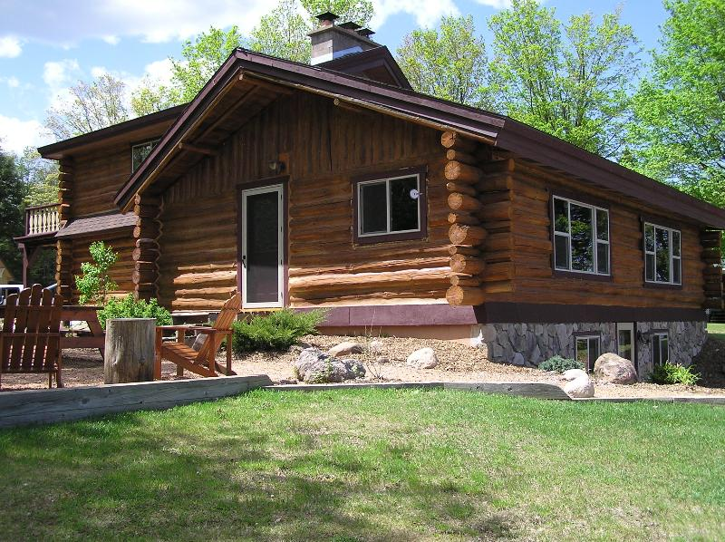View of home - Log Cabin Vacation Lodging near Hurley & Mercer WI - Upson - rentals