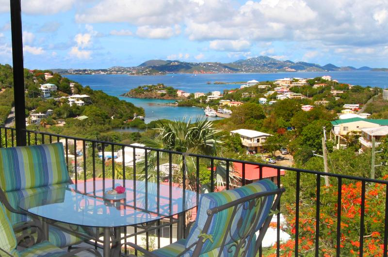 One of many fabulous views from Serendip's private verandas. - Serendip Vacation Condos - Cruz Bay - rentals