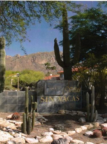 Entrance to The Villas at Sin Vacas 7601 North Calle Sin Envidia, Tucson - The Cactus Villa Rancho Sin Vacas, Catalina Fthls - Tucson - rentals
