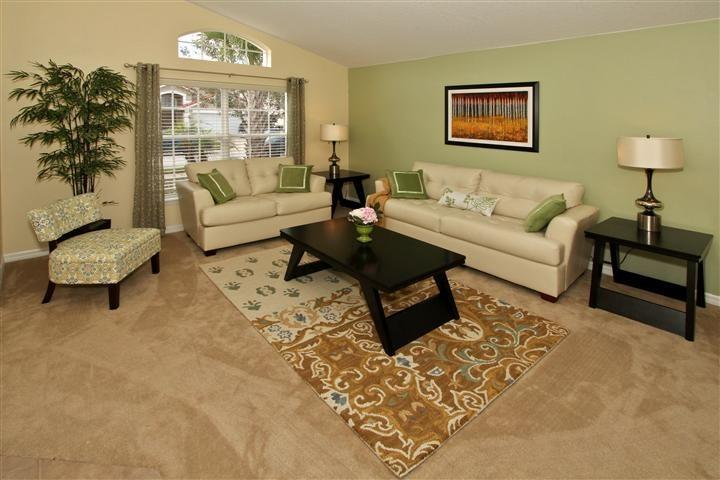 Living Room-Green Space - New Designer's Model Home-4BR Luxury Villa Disney - Davenport - rentals