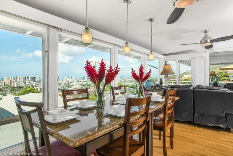 Dining Room - OVW -OVERLOOK VIEWS CITY,OCEAN,Dhead: w/car BBB A - Honolulu - rentals
