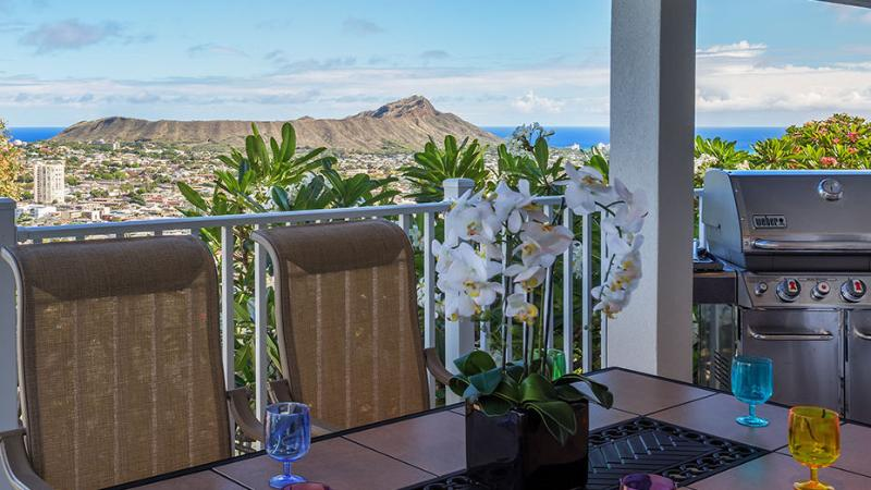 Diamondhead View from Balcony - OVK-FOR NATURE LOVERS,  VOLCANO BBB A  w/VAN - Honolulu - rentals