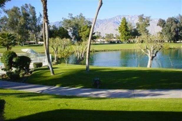 Golf course view from patio - Luxury Condo on Golf Course - Cathedral City - rentals