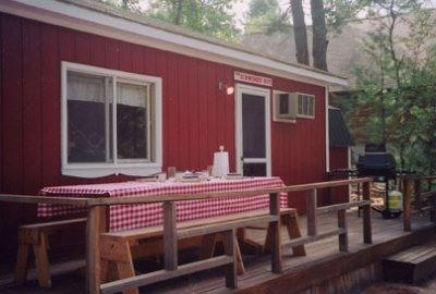 On the deck of the Schwende Hut - Secluded Yet Accessible Cottage with Beach - Brownfield - rentals