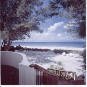 view from our deck - Beach front private vacation rentals 1 to 3 bedrms - Treasure Island - rentals