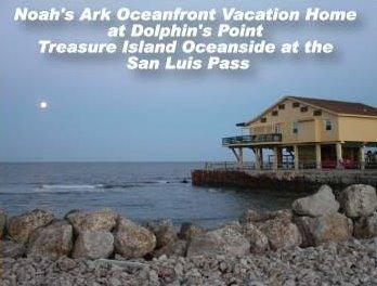 Two houses jut out to form our little peninsula. - Oceanfront w Great Fishing! - Galveston - rentals