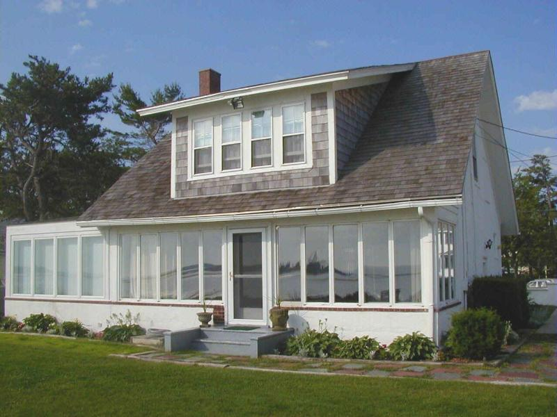 Oceanside of home facing a 180 degree panorama of the best scenery in Maine. - OCEANFRONT! Spectacular scenery. Sleeps 8 - Biddeford - rentals