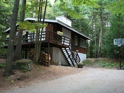 Secluded four-bedroom chalet with mountain views - Woodland Chalet: secluded vacation home - North Conway - rentals
