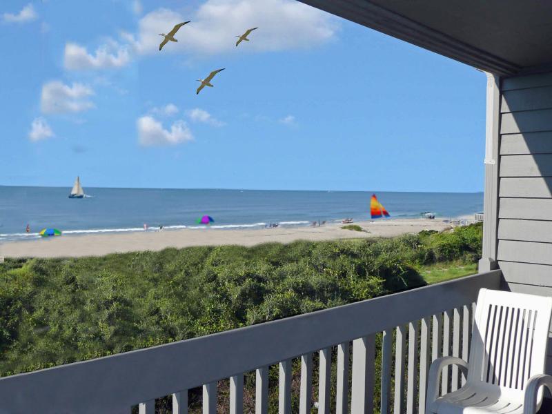 Ocean Front  Balcony - Ocean Front Beach Villa - Oak Island - rentals
