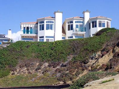 Our Place on the beach from the cove below - DAZZLING OCEANFRONT!! Our Place on the Beach - San Diego - rentals
