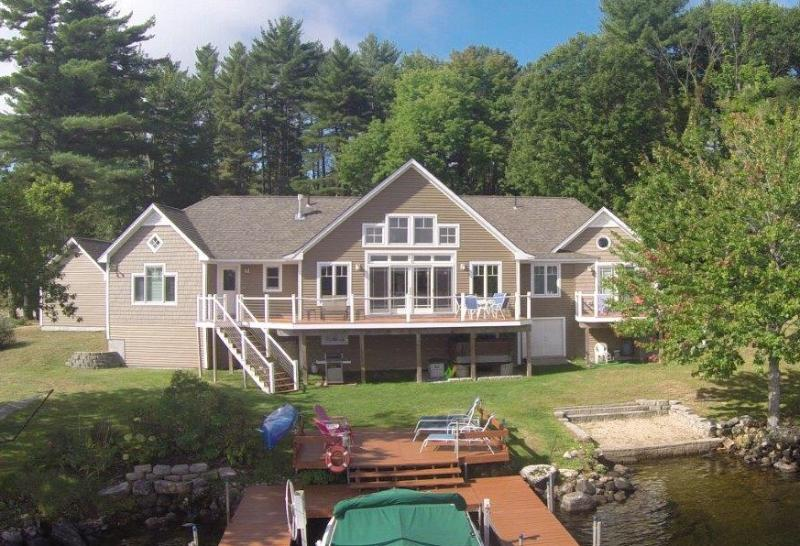 Lake view of house - 4 Season Modern Lakeside Home, Long Lake - Bridgton - rentals