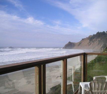 view from deck - Amazing 180 Degree Oceanfront View - Lincoln City - rentals