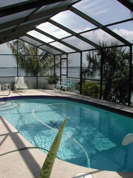 "Relax in the Heated Pool overlooking the Bay - ""LA CASA DEL ""- GORGEOUS EXECUTIVE WATERFRONT HOME - Englewood - rentals"