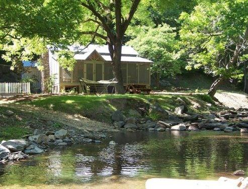Wildacre on Sugar Creek, surrounded by mountains! - Creekside rental cabin in North GA mountains - Chatsworth - rentals