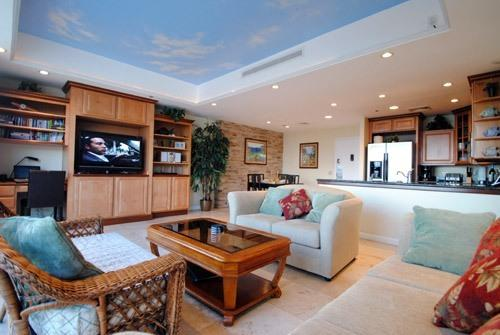 Large Spacious Living Room - Awesome Ocean Front Executive Penthouse - Honolulu - rentals