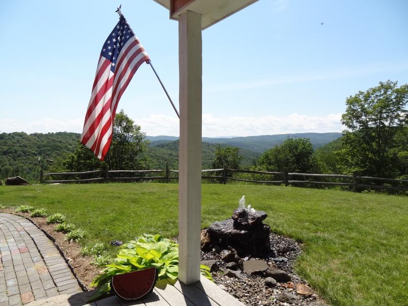 Water Fountain off of Porch - Enjoy a bird's eye view of Vermont hills - Tunbridge - rentals