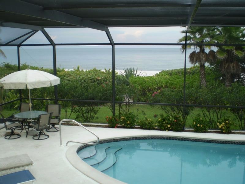 Ocean from Pool - Waterfront Home on Naples Gulf Beach - Naples - rentals