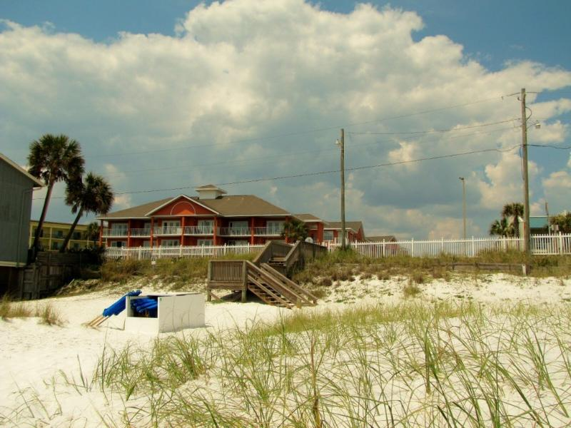 Gulfview condos from the beach!  It's only 25 yards across the street! - Destin Gulfview II Condo! Gulf Views! Sleeps 6! - Miramar Beach - rentals