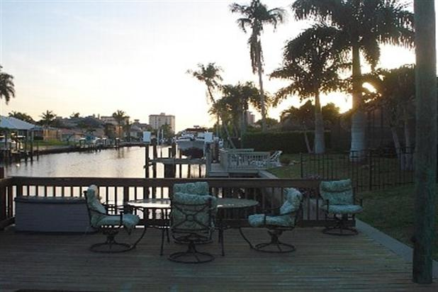 SUNSET VIEW FROM PRIVATE DOCK, WATCHOUT FOR DOPHINS AND MANATEES - NAPLES/VANDERBILT BEACH WATERFRONT/POOL HOME - Naples - rentals