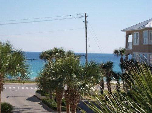 """View from patio to ocean & beach - """"A Beach Condo For You""""- Destin,Florida - Miramar Beach - rentals"""