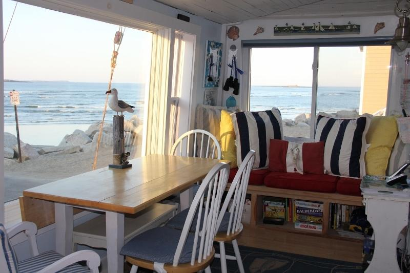 Ocean view from dining area and window seat - The Blue Pearl Cottage, Awesome Ocean View,Saco Me - Saco - rentals