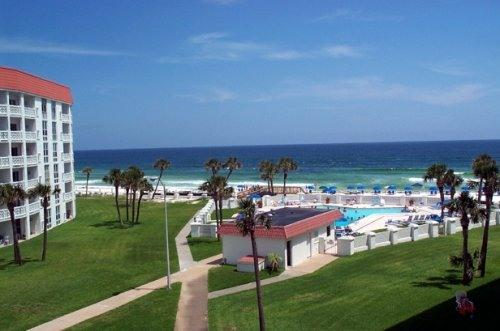 Balcony View - Enjoy 2 Bedroom Condo with Gulf  View on 16.5 Miles of Sugar White  Beach - Fort Walton Beach - rentals