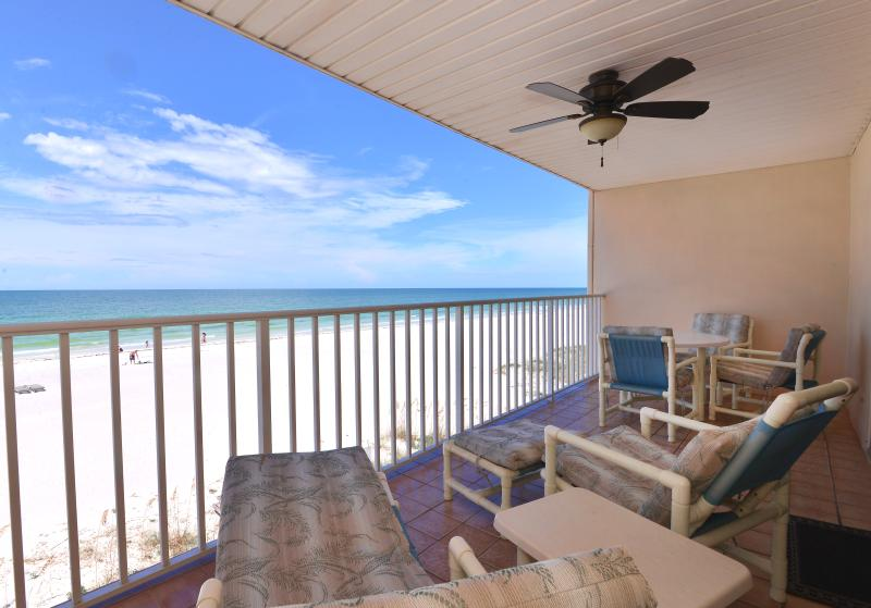 Private 32 foot balcony - 2BR/2BA DIRECT GULF FRONT CONDO PARADISE - Indian Shores - rentals