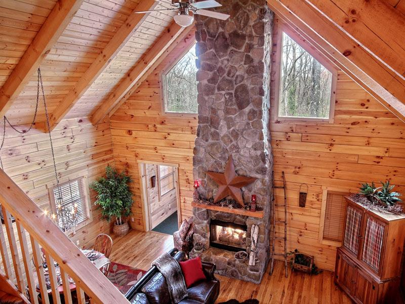 View from loft-living room - Luxury Cabin in Hocking Hills - Hocking Hills - rentals