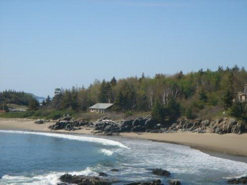 View of the Cottage from the North - Maine Cottage on Beach, Indian Point,Georgetown ME - Georgetown - rentals