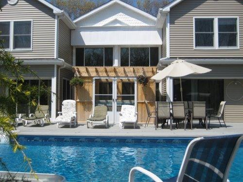 FRONT DECK & HEATED POOL - LUXURY HAMPTON ESTATE 4  PRIVATE RENTALS W/TENNIS, - Westhampton - rentals