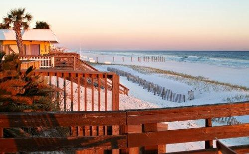 Crystal Beach pristine shoreline from private deck - OCTOBER On the Beach, Lg Private Deck,Daily Set Up - Destin - rentals