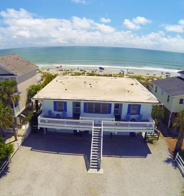 arial view of property - Almost Heaven A/C OCEANFRONT 2Br/1Ba Slps 8 WiFi - Surfside Beach - rentals