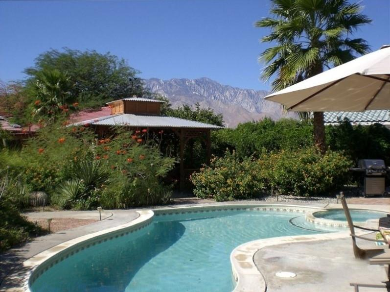 pool, jaccuzi and gazebo for shade - Private home with resort backyard - Cathedral City - rentals