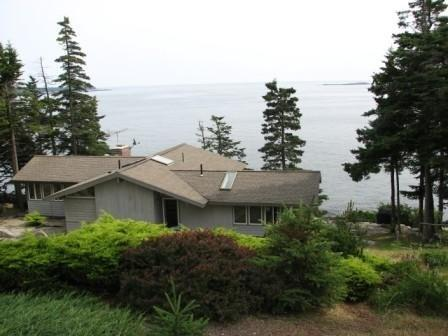 View From Parking - Due South - Spectacular Oceanfront Retreat - Spruce Head - rentals