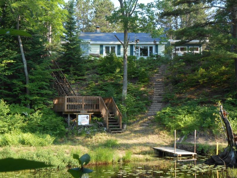 "Riverfront cottage with open wood deck and floating dock - Lake Superior Cottage Marquette""Camp Luke Charles"" Sandriver Waterfront - Marquette - rentals"