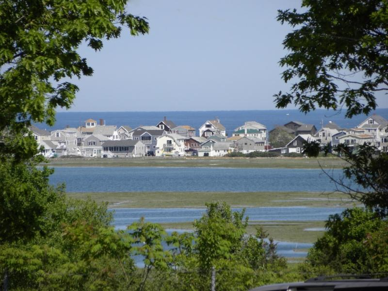 VIEW IN DISTANCE FROM PORCH - Cottage, your home close to beach w heated pool . - Wells - rentals