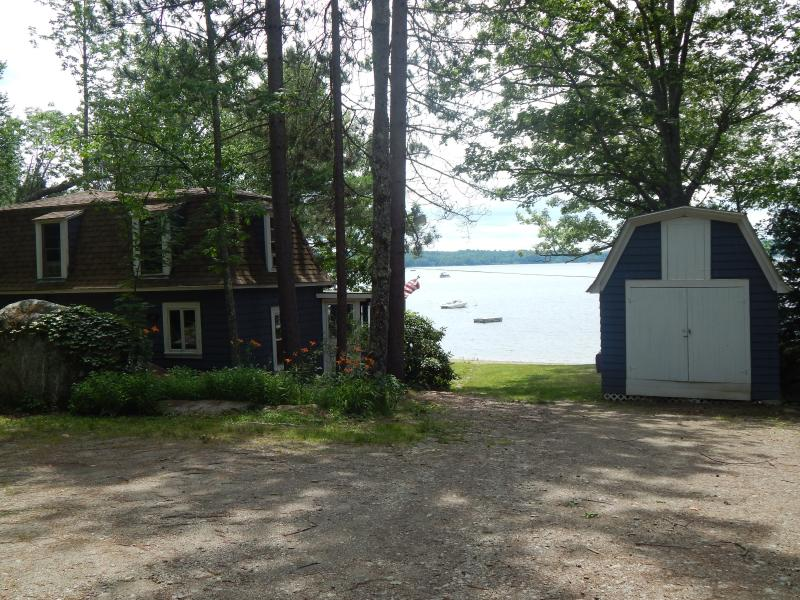 View as you arrive - Swan Lake Waterfront Cottage A/C & Heat - Frankfort - rentals