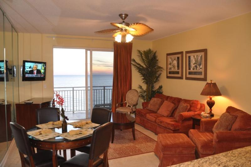 Living Room - Ocean Front - Luxury Oceanfront Sterling Resort - Panama City Beach - rentals